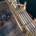 aerial shot at wharf